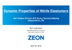 Lamgmesser zeon chemicals dynamic properties of nitrile elastomers