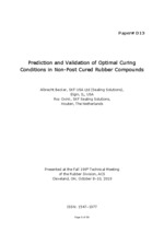 D13 becker prediction and validation of optimal curing conditions in nonpost cured rubber